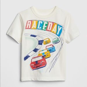 "NWT GAP kids ""Raceday"" T-Shirt Top Size 12-18mo"